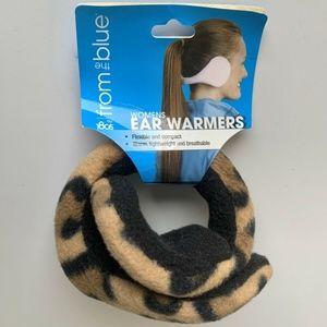 NEW From the Blue Leopard Fleece Ear Muff Warmers